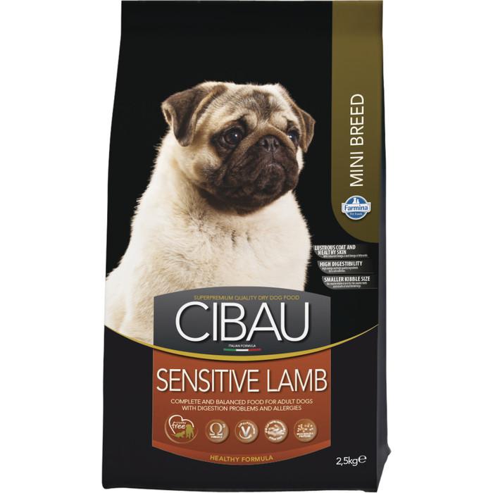 Сухой корм Farmina CIBAU Sensitive Lamb Mini c ягненком для взрослых собак мелких пород 2,5кг