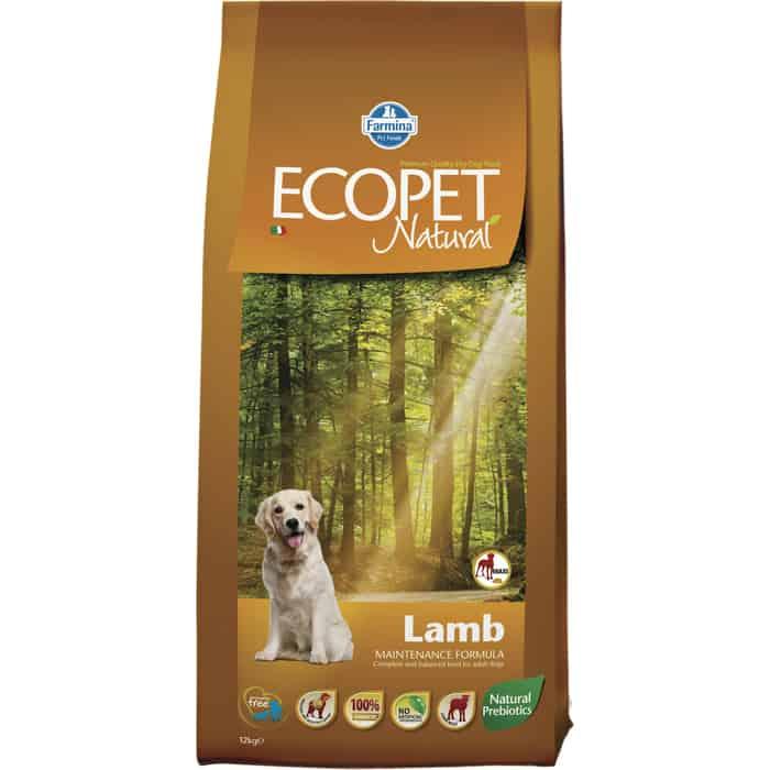 Сухой корм Farmina Ecopet Natural Adult Dog lamb с ягненком для взрослых крупных собак 12кг