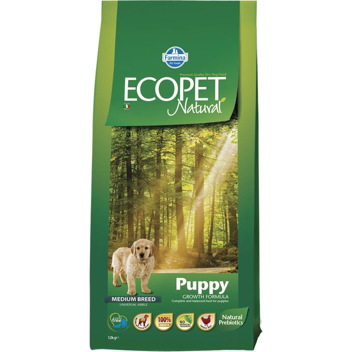 Сухой корм Farmina Ecopet Natural Puppy Medium Breed Chicken с курицей для щенков средних пород 12кг