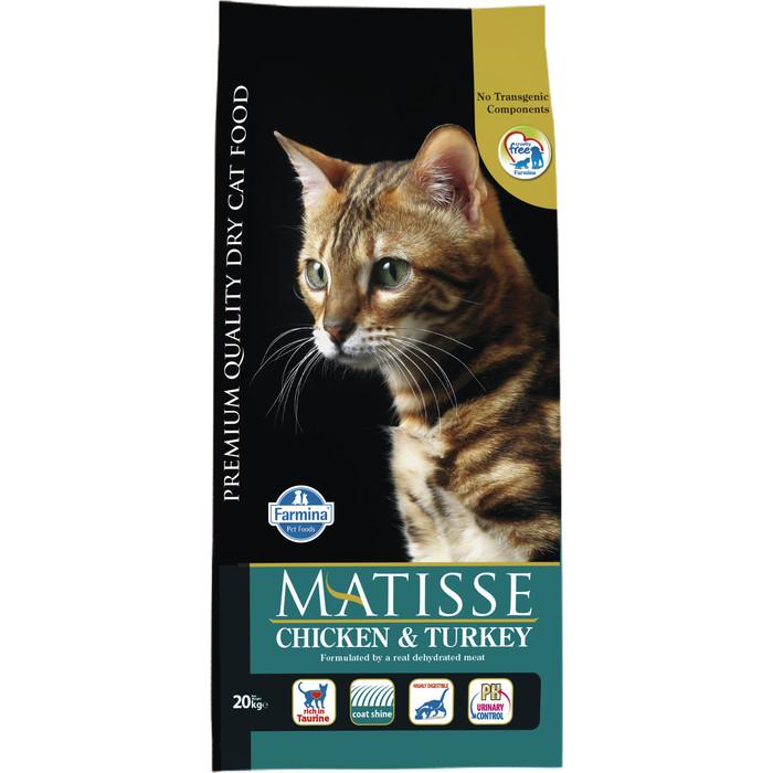 Сухой корм Farmina Matisse Adult Cat Chicken & Turkey курицей и индейкой для взрослых кошек 20кг