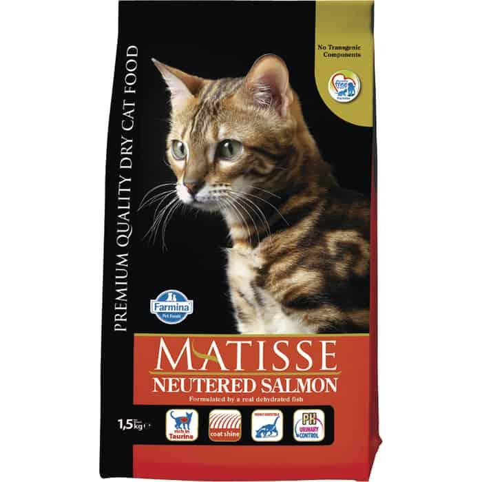 Сухой корм Farmina Matisse Neutered Adult Cat Salmon с лососем для стерилизованных кошек 1,5кг