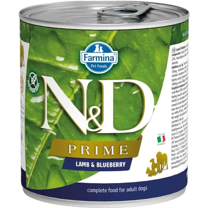 Консервы Farmina N&D Adult Dog GF Lamb & Blueberry беззерновой с ягненком и черникой для взрослых собак 285г