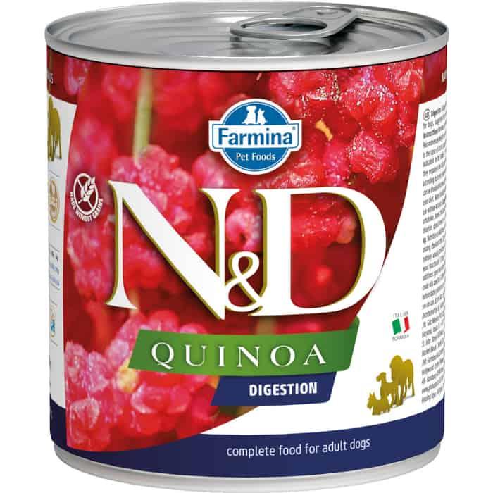 Консервы Farmina N&D Adult Dog Sensetive Quinoa & Lamb с ягненком и киноа для поддержки пищеварения взрослых собак 285г