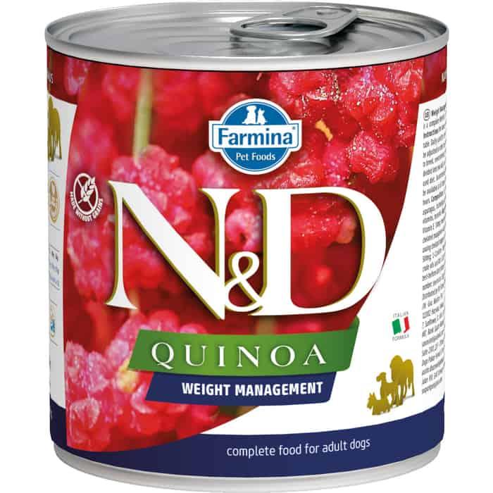 Консервы Farmina N&D Adult Dog Quinoa Weight Management для контроля веса взрослых собак 285г