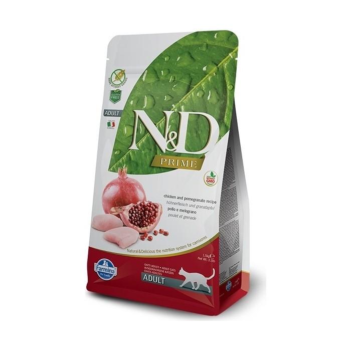 Сухой корм Farmina N&D Adult Cat GF Chicken & Pomegranate беззерновой с курицей и гранатом для кошек 10кг