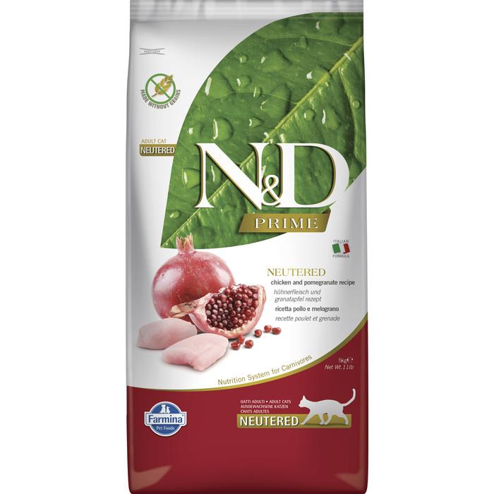 Сухой корм Farmina N&D Neutered Cat GF Chicken & Pomegranate беззерновой с курицей и гранатом для стерилизованных кошек 10кг