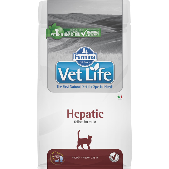 Сухой корм Farmina Vet Life Cat Hepatic для кошек с хронической печеночной недостаточностью 400г