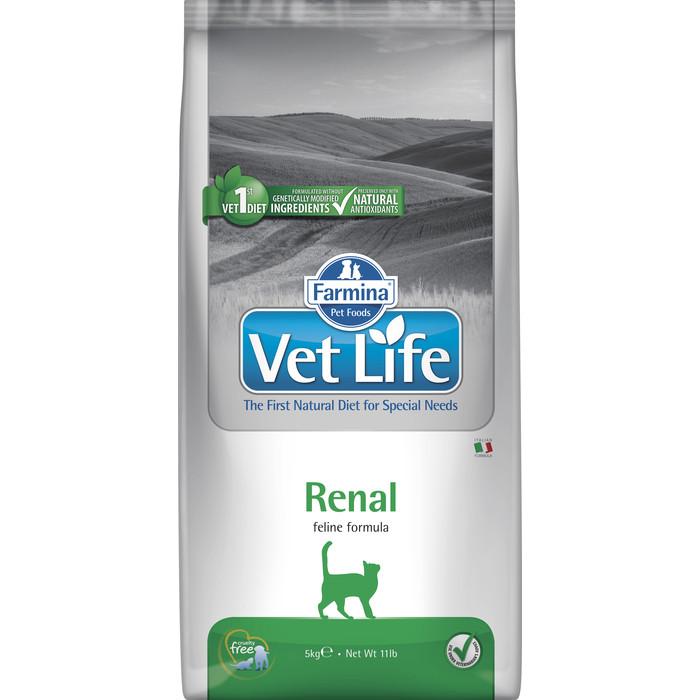 Сухой корм Farmina Vet Life Renal Feline диета при почечной недостаточности для кошек 5кг