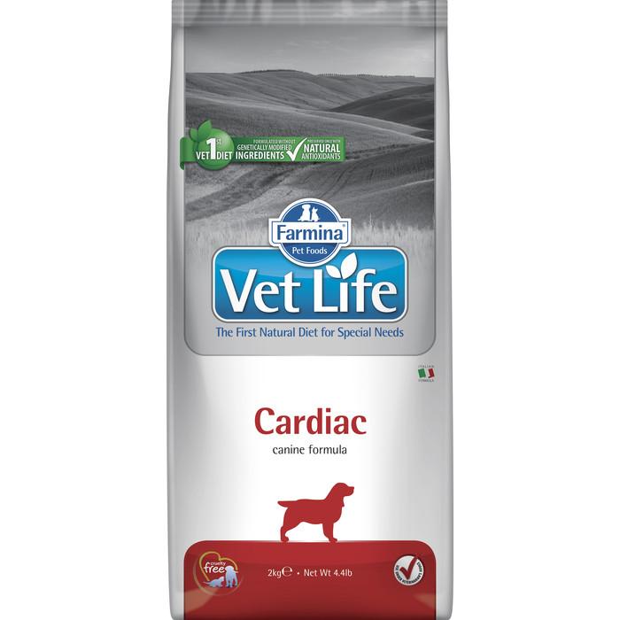 Сухой корм Farmina Vet Life Dog Cardiac для собак с хронической сердечной недостаточностью 2кг
