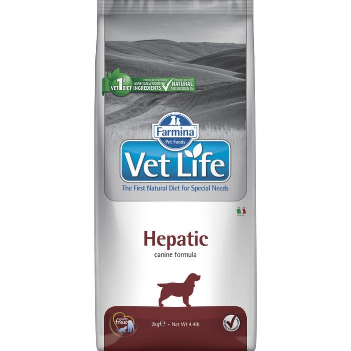 Сухой корм Farmina Vet Life Dog Hepatic для собак с хронической печеночной недостаточностью 2кг