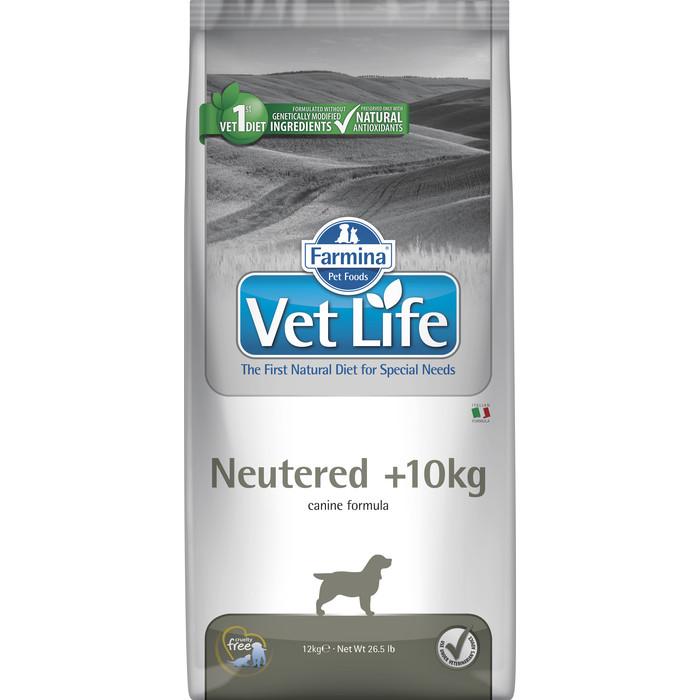 Сухой корм Farmina Vet Life Neutered Canine диета при профилактике МКБ для стерилизованных собак (весом более 10 кг) 12кг