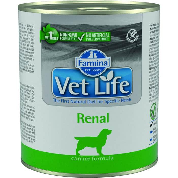 Консервы Farmina Vet Life Renal Canine диета при заболеваниях почек для собак 300г