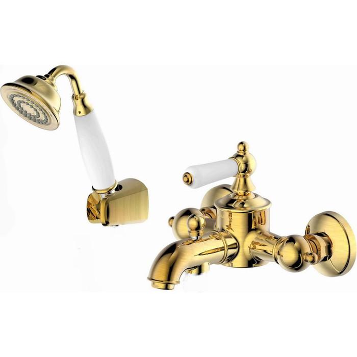 Фото - Смеситель для ванны Bravat Art с лейкой, бронза (F675109U-B1-RUS) смеситель для ванны bravat art короткий излив бронза f675109u b1 rus