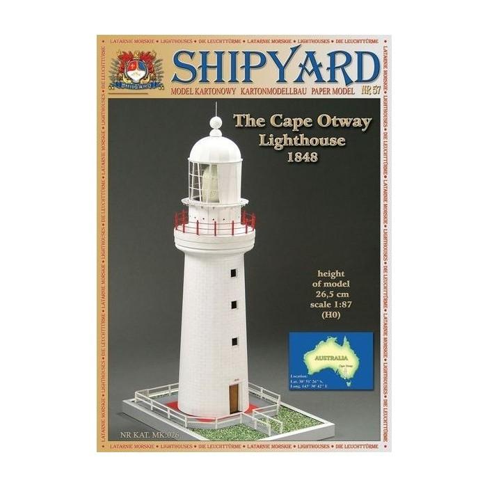 Сборная картонная модель Shipyard маяк Crowdy Head Lighthouse (№56), 1/87