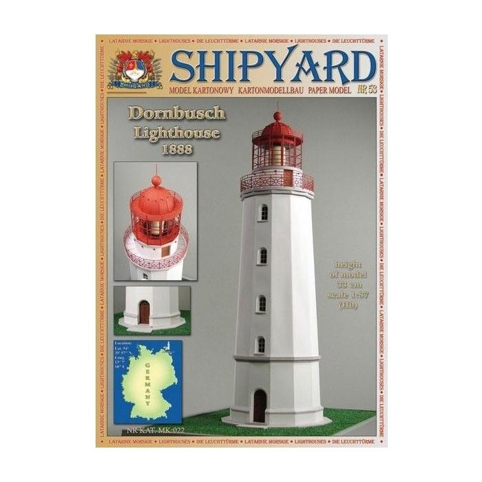 Сборная картонная модель Shipyard маяк Dornbusch Lighthouse (№53), 1/87