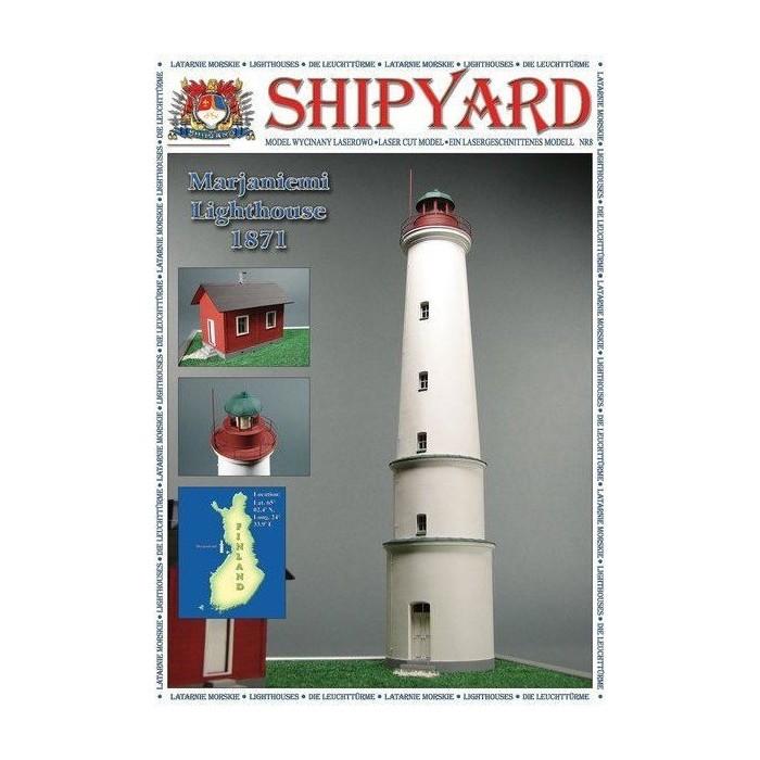Сборная картонная модель Shipyard маяк Lighthouse Marjaniemi (№11), 1/72 lighthouse wood grain linen pillow case