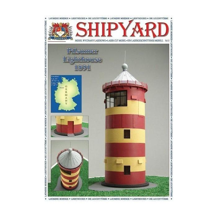 Сборная картонная модель Shipyard маяк Lighthouse Pilsumer (№26), 1/72