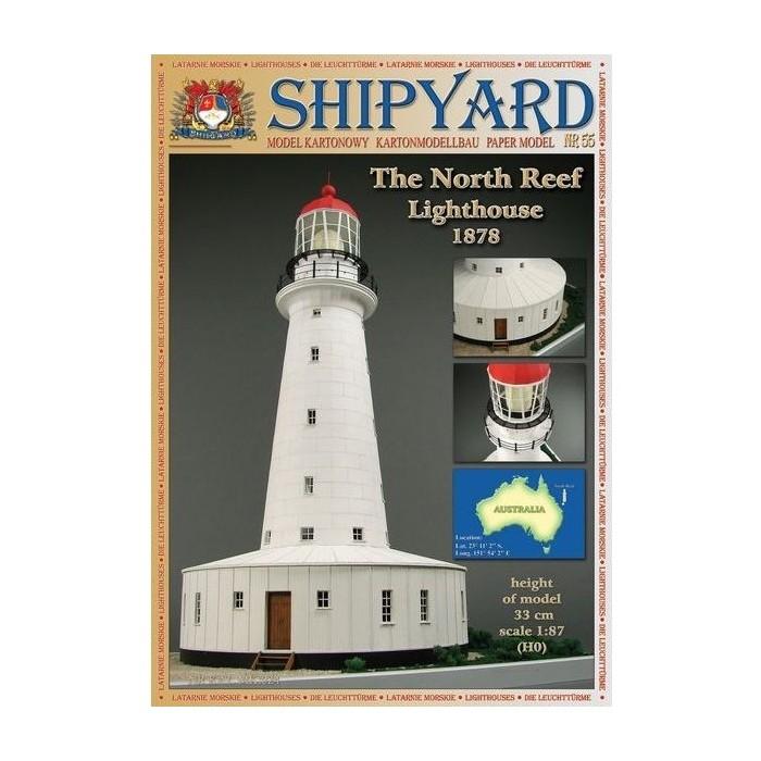 Сборная картонная модель Shipyard маяк North Reef Lighthouse (№55), 1/87