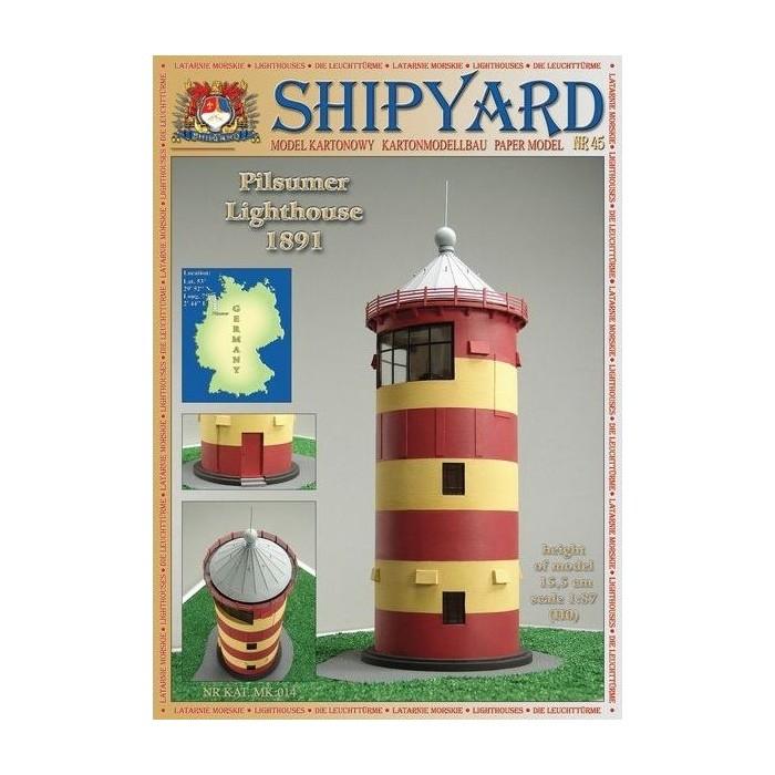 Сборная картонная модель Shipyard маяк Pilsumer Lighthouse (№45), 1/87