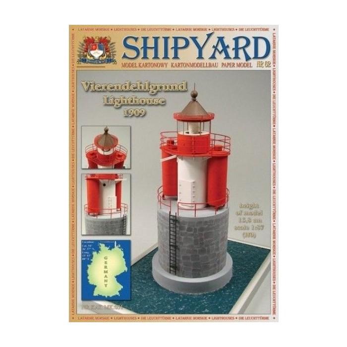 Сборная картонная модель Shipyard маяк Vierendehlgrund Lighthouse (№62), 1/87
