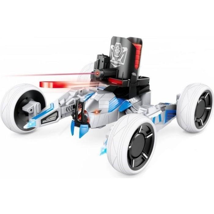 Радиоуправляемая боевая машина Keye Toys Universe Chariot, лазер, диски, голубая, Ni-Mh и З/У, 2.4G