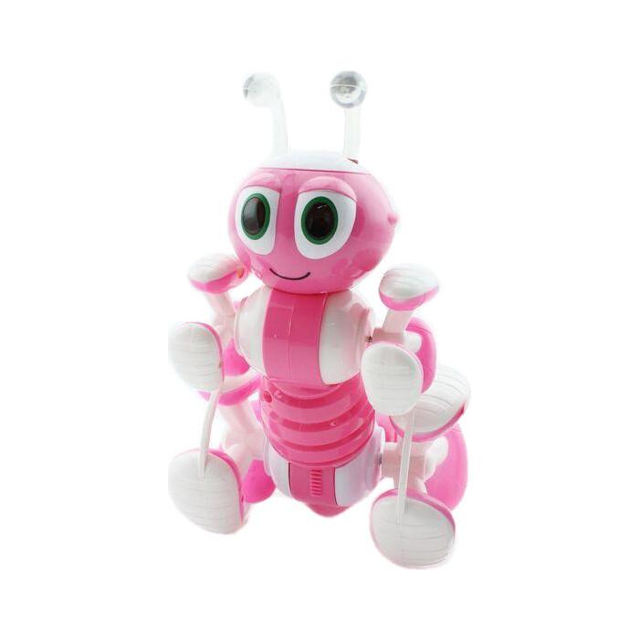 Радиоуправляемый робот-муравей BRAINPOWER трансформируемый, звук, свет, танцы (розовый)