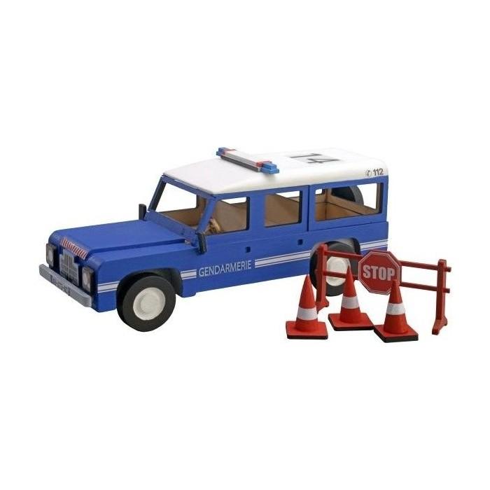 Сборная деревянная модель автомобиля Artesania Latina Land Rover ПОЛИЦИЯ