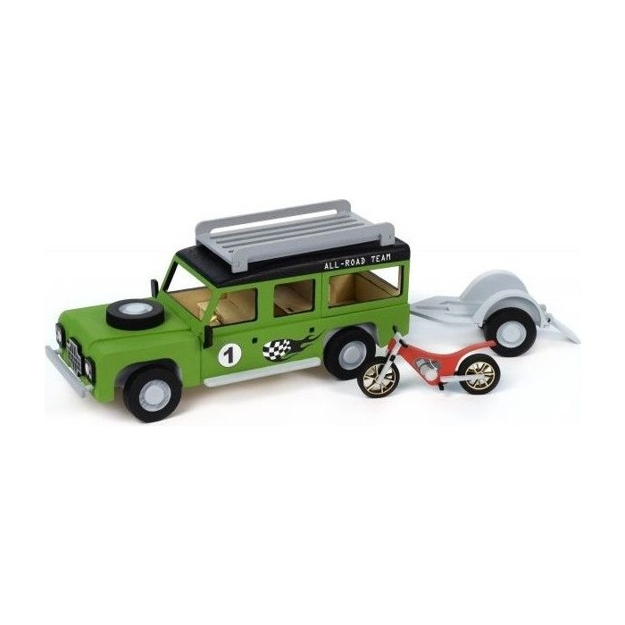 Собранная деревянная модель автомобиля Artesania Latina Land Rover МОТОГОНЩИК BUILD