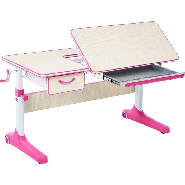 Парта FunDesk Imparare pink (1+1) cubby