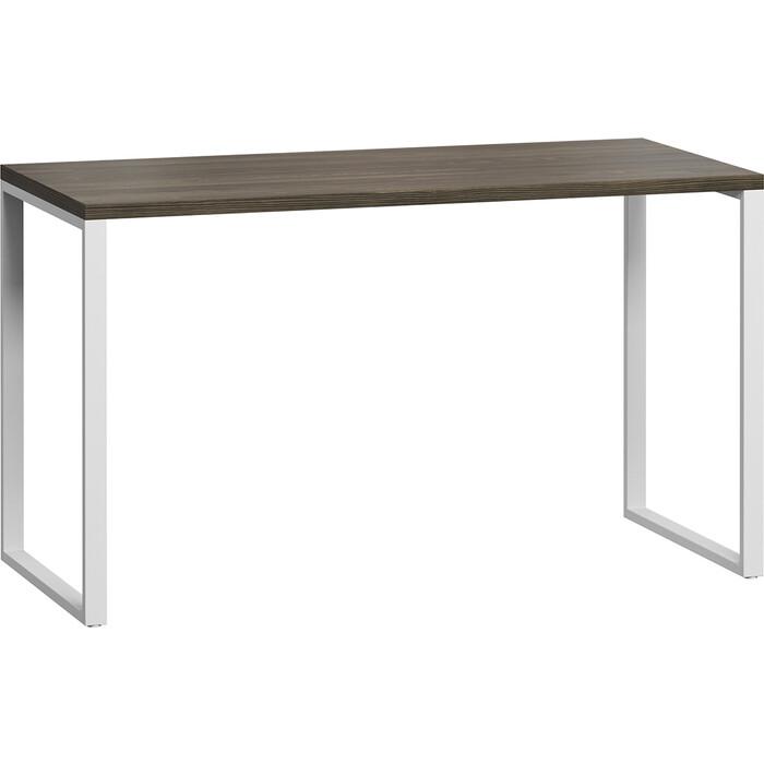 Стол письменный LoftyHome Лондейл 1 серый с белым основанием