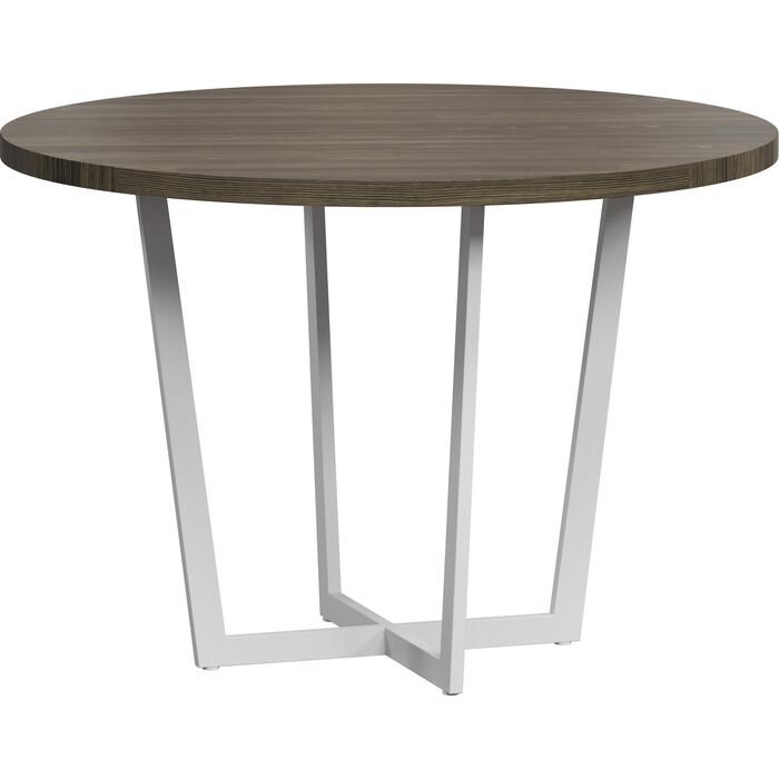 LoftyHome Стол обеденный Лондейл 1 серый с белым основанием