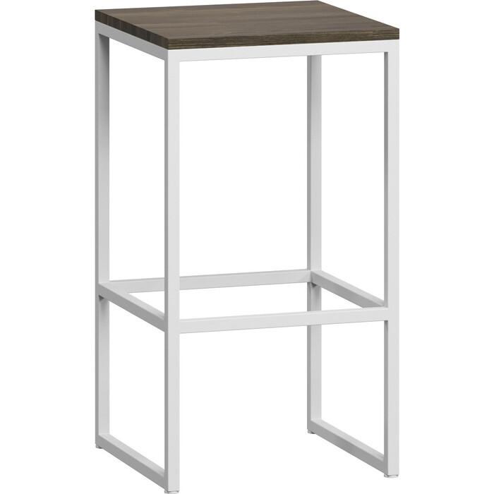 стул бервин LoftyHome Стул барный Бервин серый с белым основанием