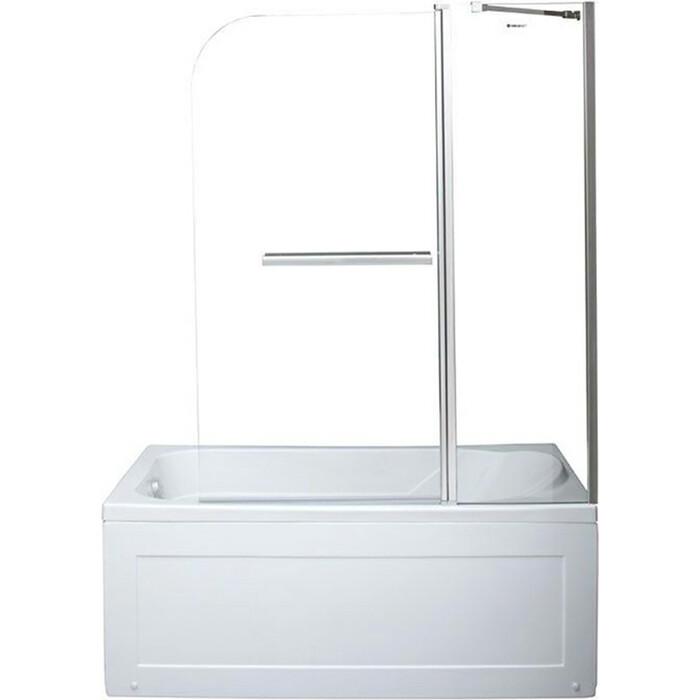 Шторка для ванны Aquanet SG-1200 120х150 прозрачная, хром (209412)