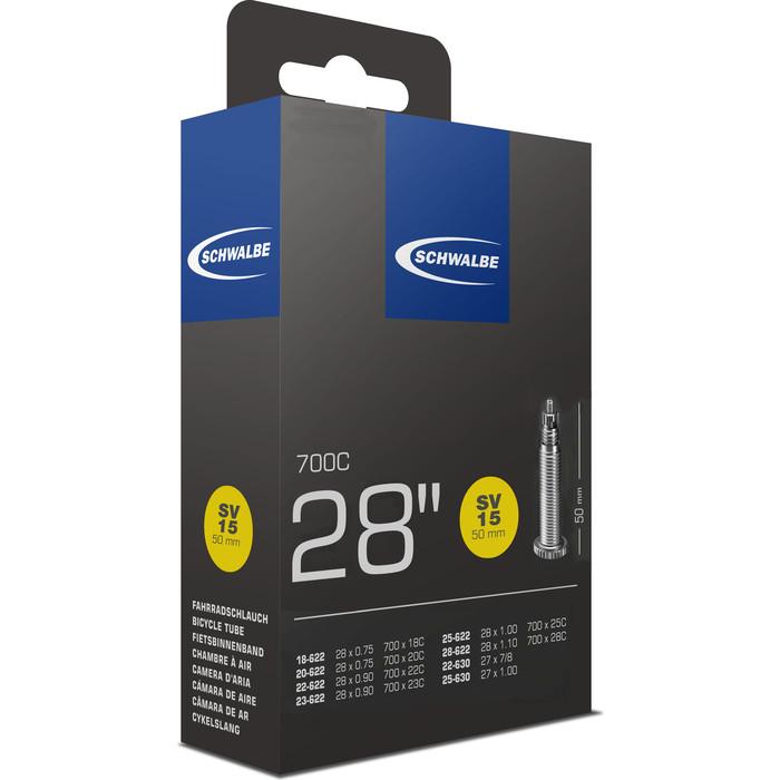 Велокамера SCHWALBE SV15 18/28-622(630) 28-0.7-1.0 50mm вентиль преста