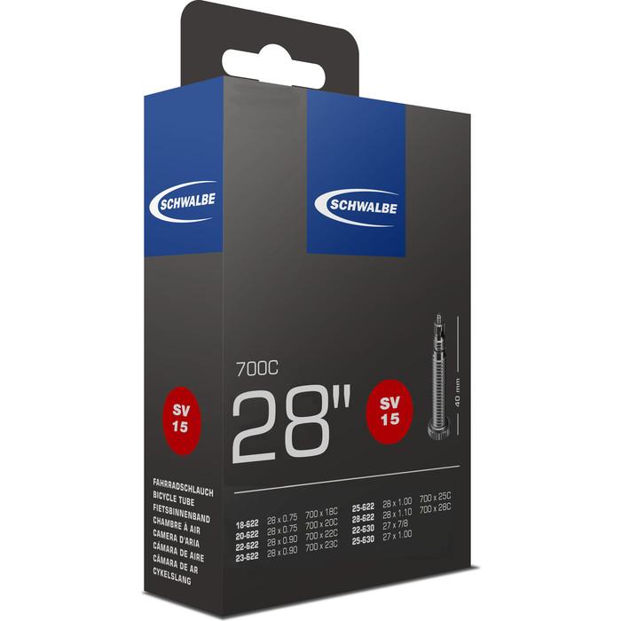 Велокамера SCHWALBE SV15 18/28-622(630) 28-0.7-1.0 40mm вентиль преста