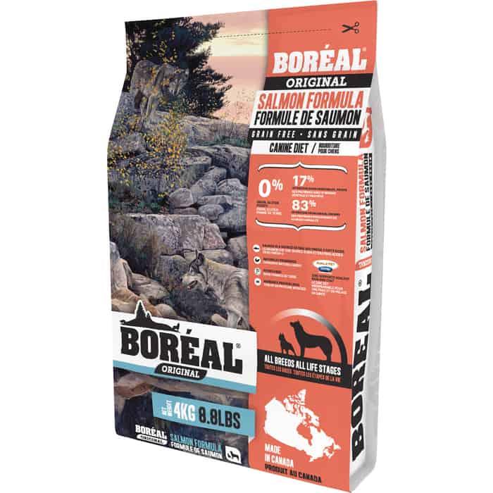 Сухой корм Boreal Original для собак всех пород с лососем 4кг