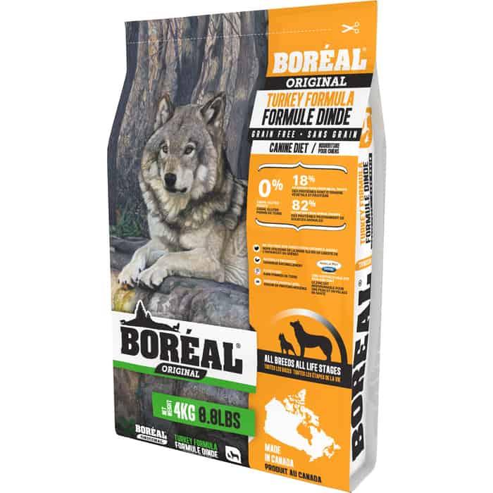 Сухой корм Boreal Original для собак всех пород с индейкой 4кг
