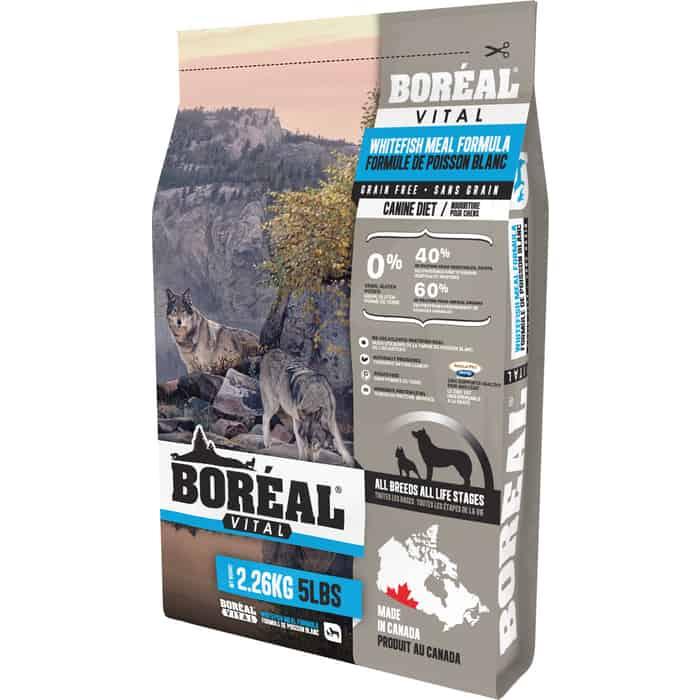 Сухой корм Boreal Vital для собак всех пород с белой рыбой 2,26кг