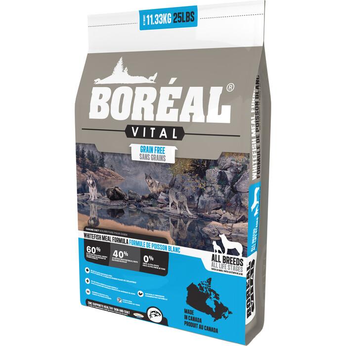 Сухой корм Boreal Vital для собак всех пород с белой рыбой 11,33кг