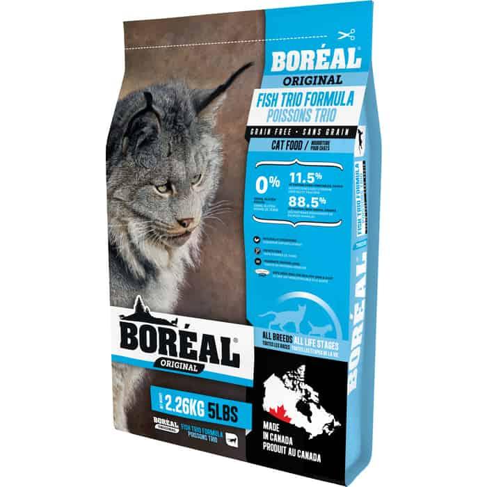 Сухой корм Boreal Original для кошек всех пород с 3 видами рыбы 2,26кг
