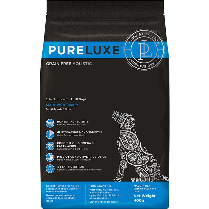 Сухой корм PureLuxe для взрослых собак с индейкой 400г