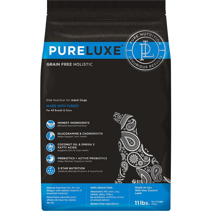 Сухой корм PureLuxe для взрослых собак с индейкой 1,81кг