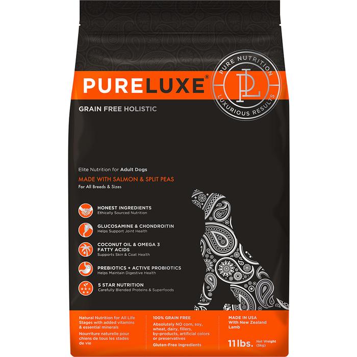 Сухой корм PureLuxe для взрослых собак с лососем и горошком 10,89 кг