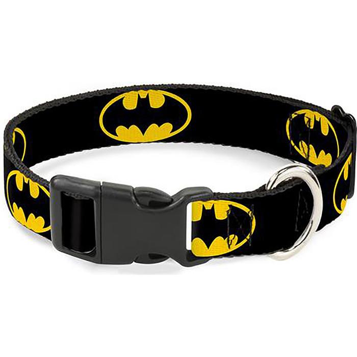 Ошейник Buckle-Down Бэтмен с пластиковой застёжкой классика 38-66см