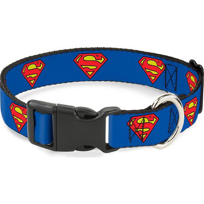 Ошейник Buckle-Down Супермен с пластиковой застёжкой классика 38-66см