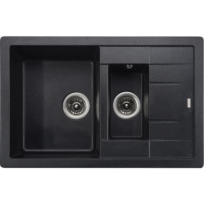 Кухонная мойка Kaiser KG2M-7850 Black Pearl черный мрамор (KG2M-7850-BP)