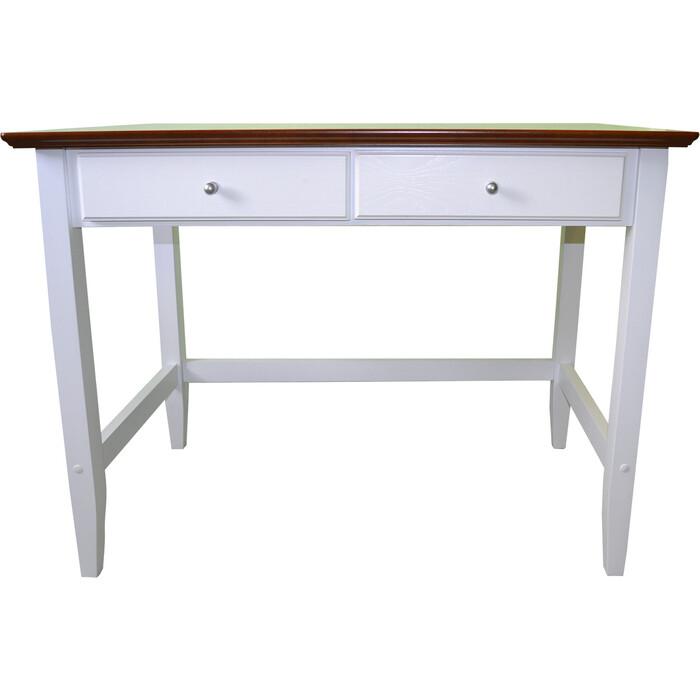 Письменный стол Miella Woody 100х60х75 орех + белый (эмаль)