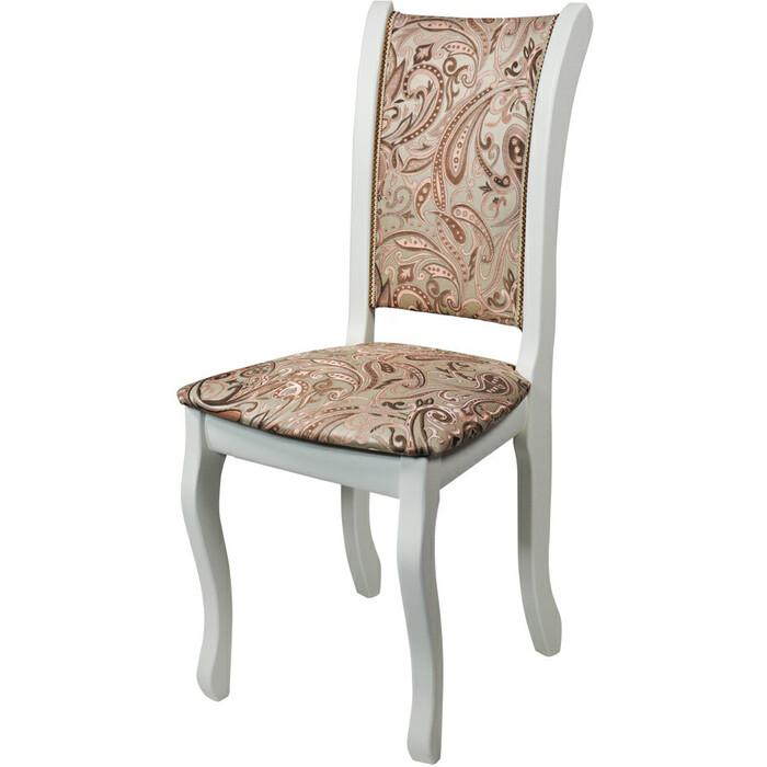 Стул Мебель-24 Гольф-7 слоновая кость/обивка ткань лалик персик
