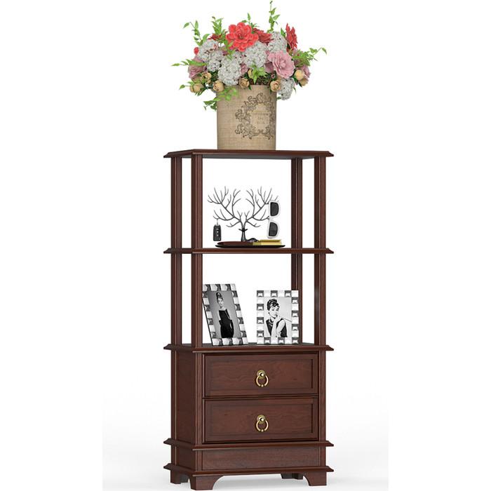 Мебель-24 Этажерка с ящиками темный орех