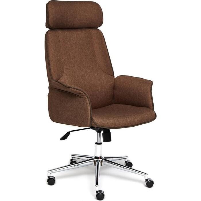 Кресло TetChair Charm экошерсть/кож/зам коричневый/коричневый 4230